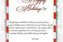 Happy Holidays from DesignScapes!!!