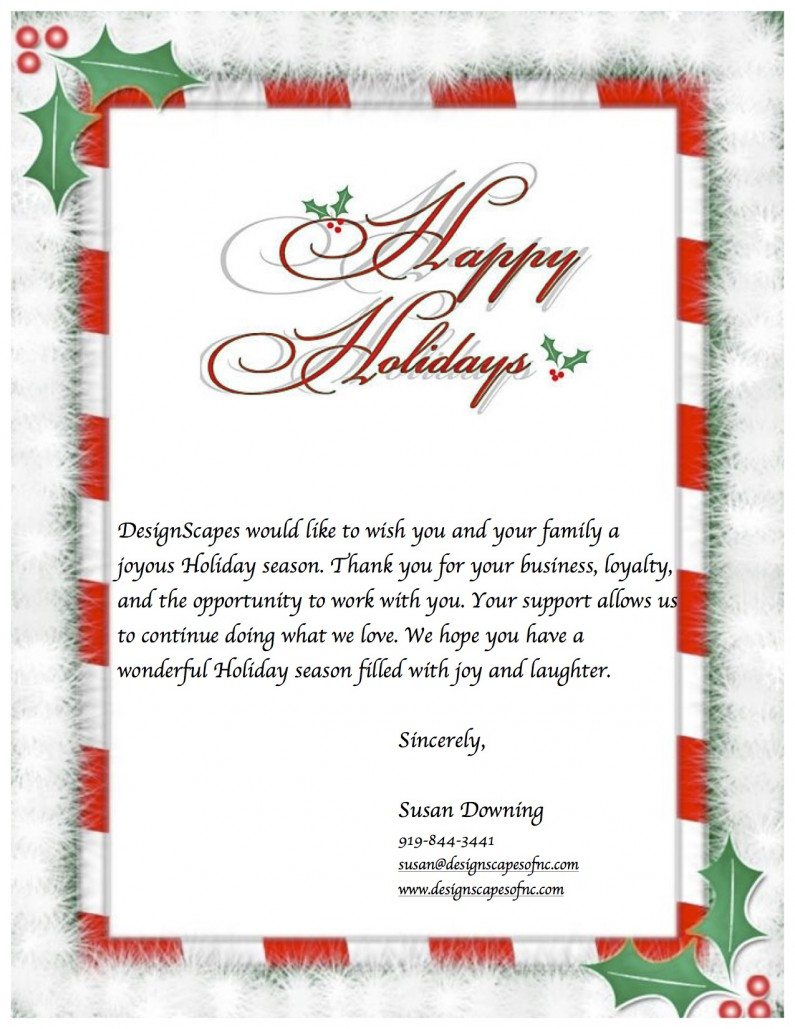 Holiday Letter 2015