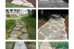 Hardscape Idea: Irregular Flagstone Walkway